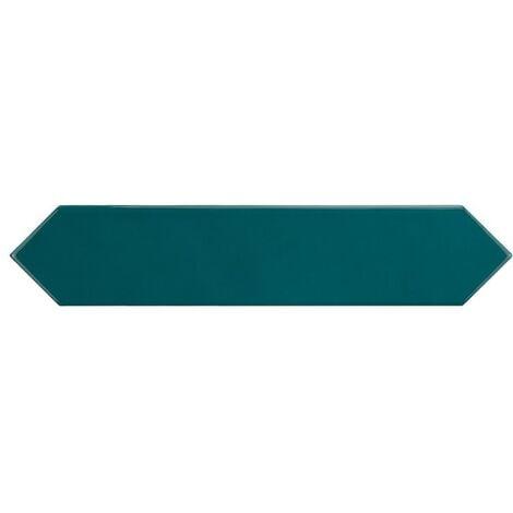 "main image of ""Faience navette crayon bleu brillant 5x25 cm ARROW BLUE CANARD 25829 - 0.50 m²"""