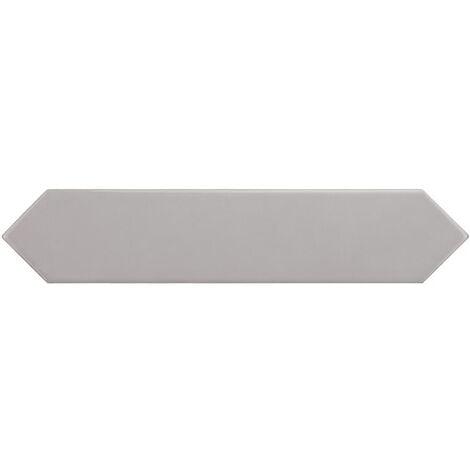 Faience navette crayon gris brillant 5x25 cm ARROW QUICKSILVER 25833 - 0.50 m²