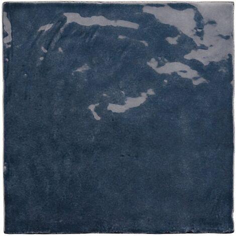 Faience nuancée effet zellige bleu 13.2x13.2 LA RIVIERA BLUE REEF 25861-1m²