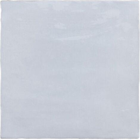 Faience nuancée effet zellige bleu ciel 13.2x13.2 RIVIERA LAVANDA BLUE 25854- 1 m²