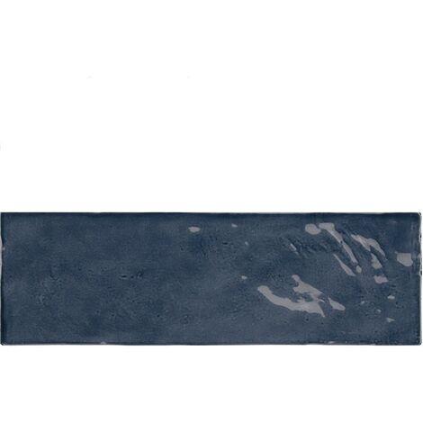 Faience nuancée effet zellige bleu roi 6.5x20 RIVIERA BLUE REEF 25848- 0.5 m²