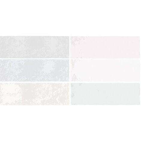 Faience nuancée effet zellige mix pastel 6.5x20 RIVIERA MELANGE 25864- 0.5 m²