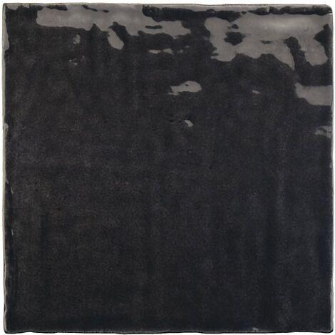 Faience nuancée effet zellige noir 13.2x13.2 RIVIERA TOURMALINE 25862- 1 m²