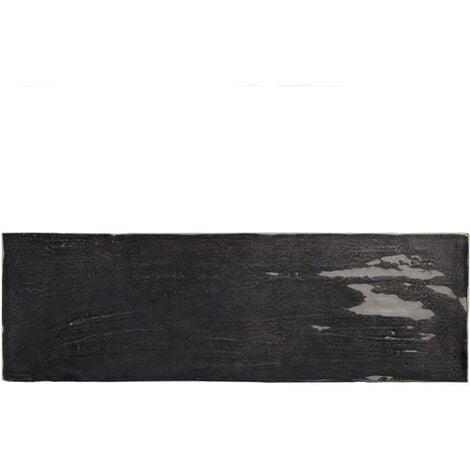 Faience nuancée effet zellige noir 6.5x20 RIVIERA TOURMALINE 25849- 0.5 m²