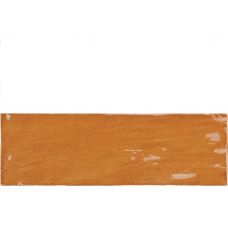 Faience nuancée effet zellige ocre 6.5x20 RIVIERA GINGER 25843- 0.5 m²