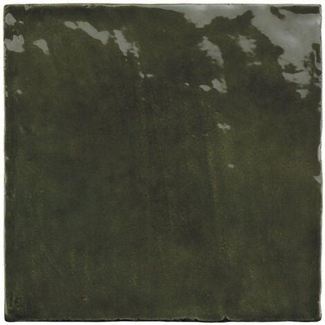 Faience nuancée effet zellige vert 13.2x13.2 RIVIERA BOTANICAL GREEN 25860-1m²