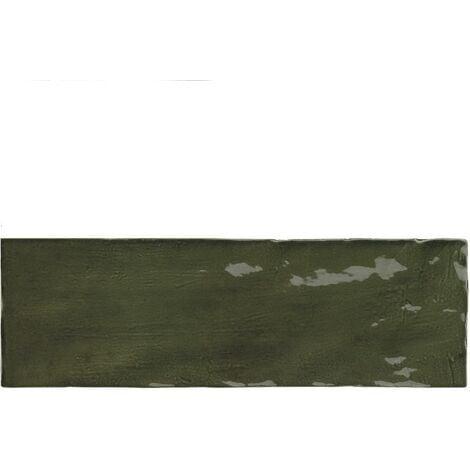 Faience nuancée effet zellige vert 6.5x20 RIVIERA BOTANICAL GREEN 25847 - 0.5 m²