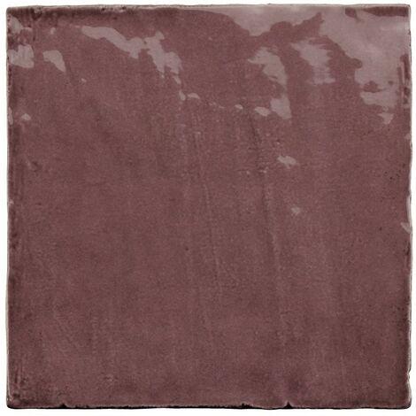 Faience nuancée effet zellige violet 13.2x13.2 RIVIERA JUNEBERRY 25858-1 m²