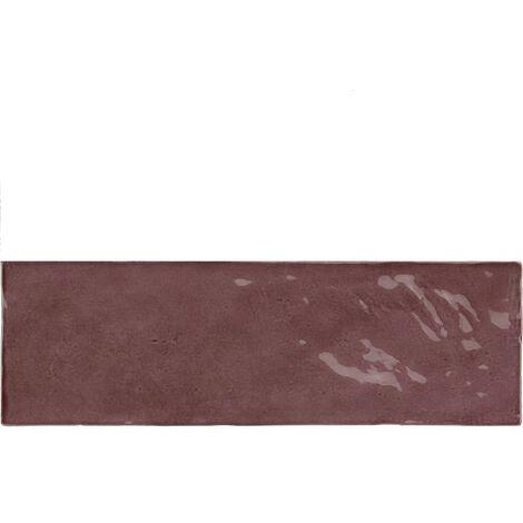 Faience nuancée effet zellige violet 6.5x20 RIVIERA JUNEBERRY 25844- 0.5 m²