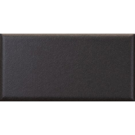 Faïence nuancée mate moderne noir MATELIER VOLCANIC BLACK - 26474 - 7.5x15 cm - 0.50m²