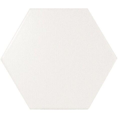 Faience SCALE HEXAGON WHITE MATT 21767 - 12.4x10.7cm - 0.61m²