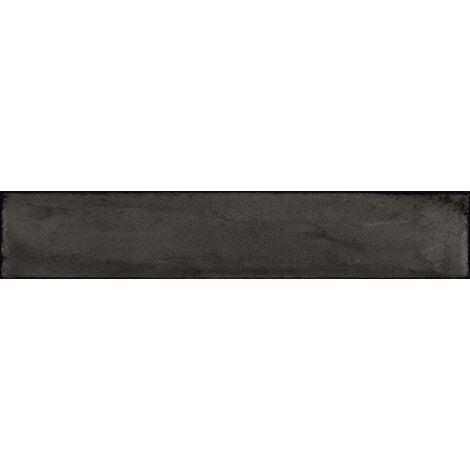 Faience vintage brillante noire - NERO BRICK 7.5x40 cm - 1.32m²