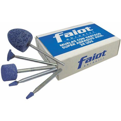 Faiot CSA-24 - Surtido muelas con vástago de 3mm