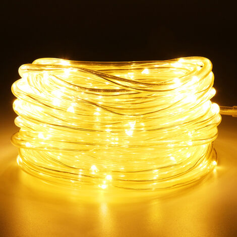 Fairy Light String Light Waterproof IP65 PVC Tube Strip Lamp Outdoor Garden Home Christmas Decor Party EU Plug AC110-265V, Line 2M (Warm White, EU Plug 0603 LED)
