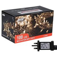 Fairy Lights Warm White 100 LED 10m Lit Length Clear Cable