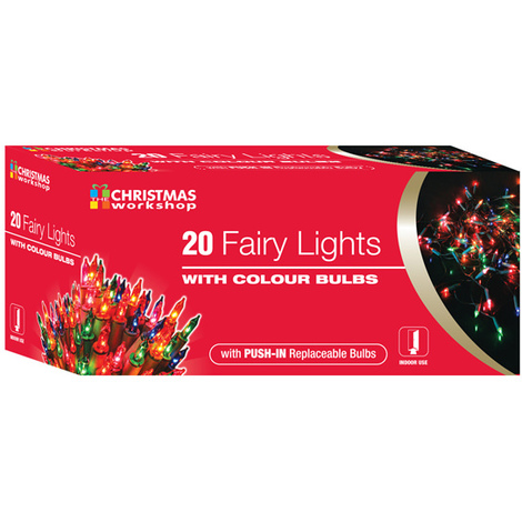 Fairy Lights with Coloured Bulbs