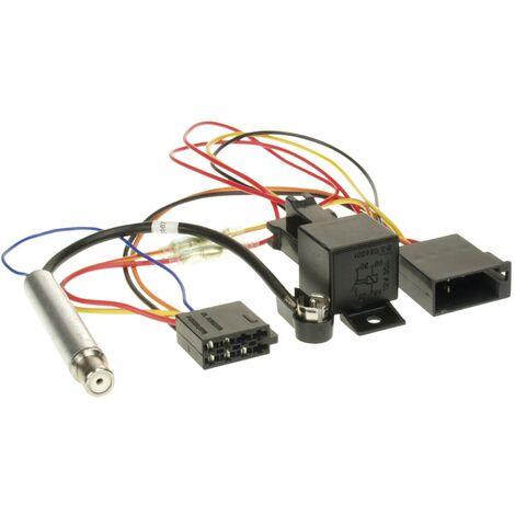 Faisceau autoradio relais compatible avec Audi Seat Skoda VW avec amplificateur antenne