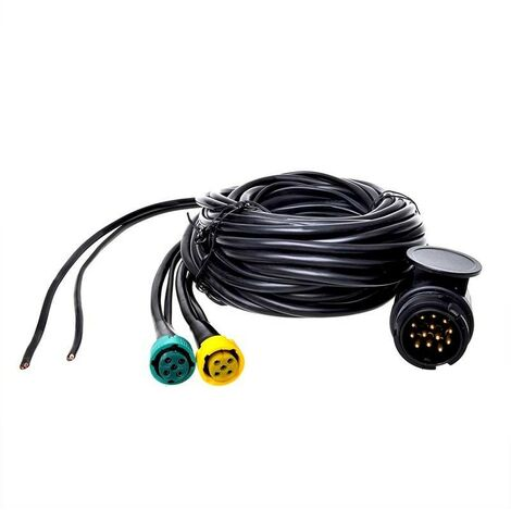 Faisceau cable 7M avec fiche 13-pôles et 2x connecteur 5-pôles + 5M DC