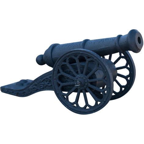 Faithful reproduction of vintage cast iron made cannon W70XDP33H42 cm