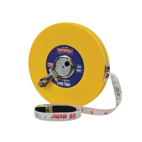Faithfull 04-30M Closed ABS Fibreglass Long Tape 30m/100ft Width 13mm