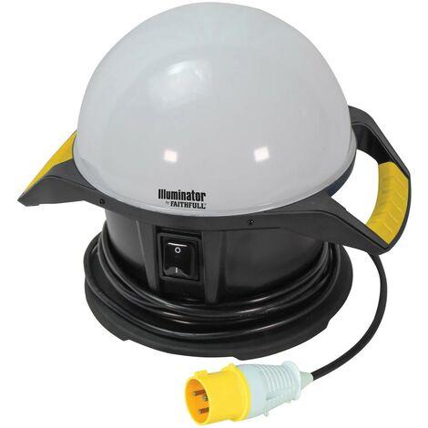 Faithfull 110v 360 Degree Task Site Light Illuminator 4000 Lumen FPPSLTL50L