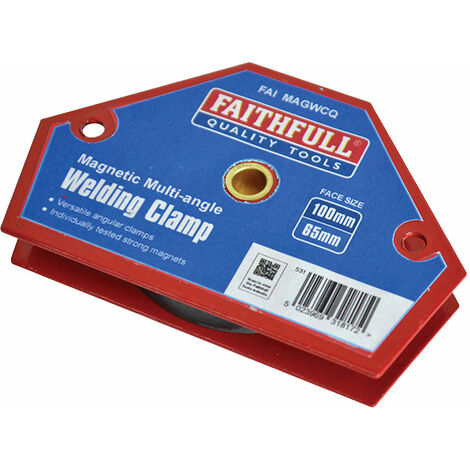 Faithfull AMC - 1187 Welding Magnet Quick Clamp 100 x 65mm