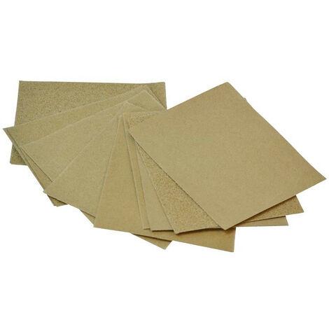 Faithfull FAIACBGPA Cork Block Glasspaper Sanding Sheets Assorted (Pack 10)