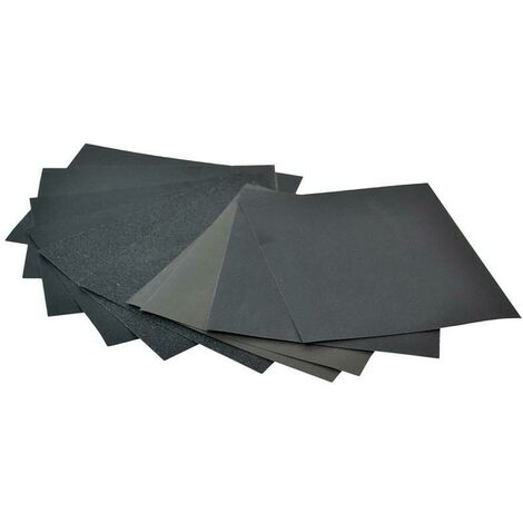 Faithfull FAIACBWDA Cork Block Wet & Dry Sanding Sheets Assorted (Pack 10)