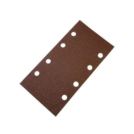 "main image of ""Faithfull FAIAOTSBOSHL 1/3 Sanding Sheet Red Bosch Hook & Loop Assorted (Pack of 5)"""