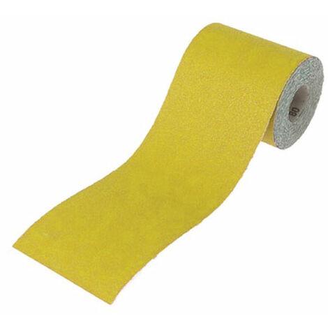 Faithfull FAIAR10120Y Aluminium Oxide Sanding Paper Roll Yellow 115mm x 10m 120G