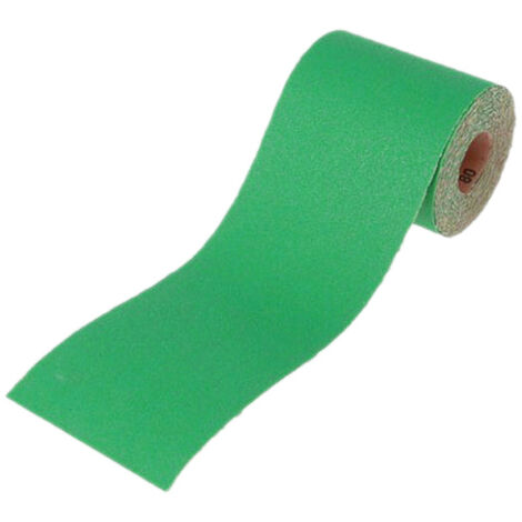 Faithfull FAIAR1040G Aluminium Oxide Sanding Paper Roll Green 115mm x 10m 40G