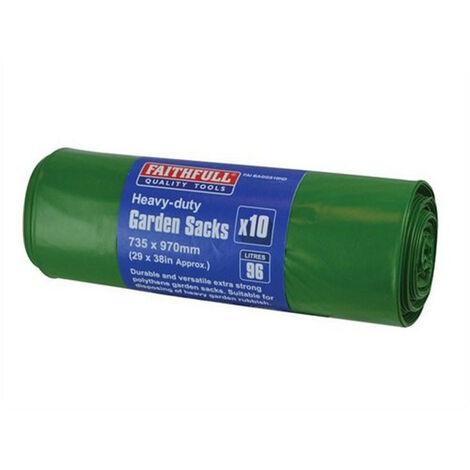 Faithfull FAIBAGGS10HD Heavy-Duty Strong Garden Sacks (Roll 10)