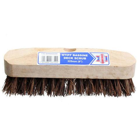 Faithfull FAIBRBASS9 Deck Scrub Stiff Broom Head 225mm (9in)