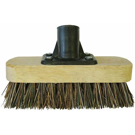 "main image of ""Faithfull FAIBRDECKSCR Deck Scrub Broom Head 175mm (7in) Threaded Socket"""