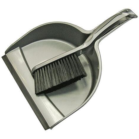 Faithfull FAIBRDUSTSET Dustpan & Brush Set Plastic (220mm)