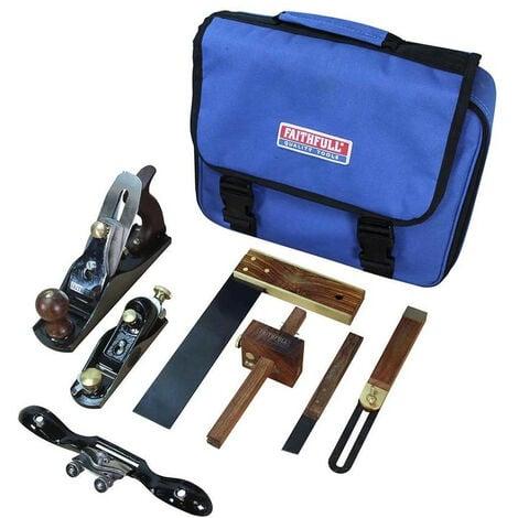 Faithfull FAICARPBAG Carpenters Tool Set of 7