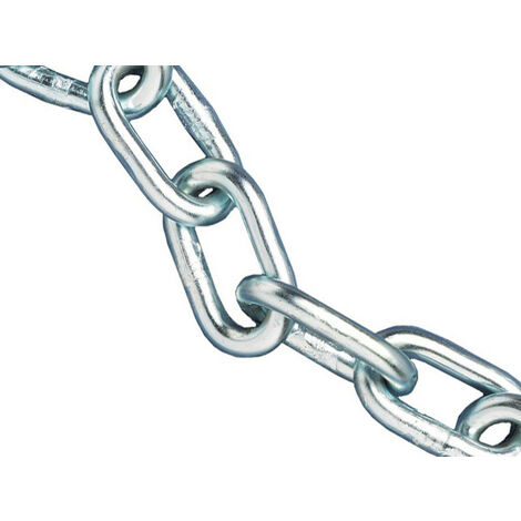 Faithfull FAICHAL615 Zinc Plated Chain 6mm x 15m Reel - Max Load 250kg
