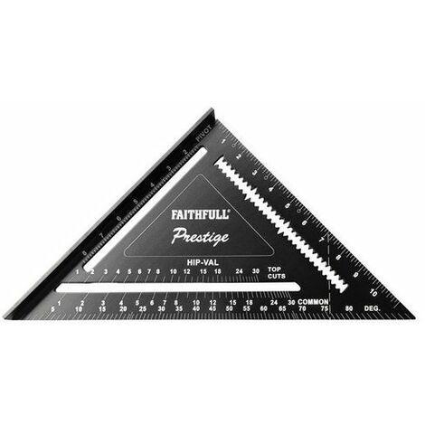 Faithfull FAICSQ12CNC Prestige Quick Square Black Aluminium 300mm (12in)