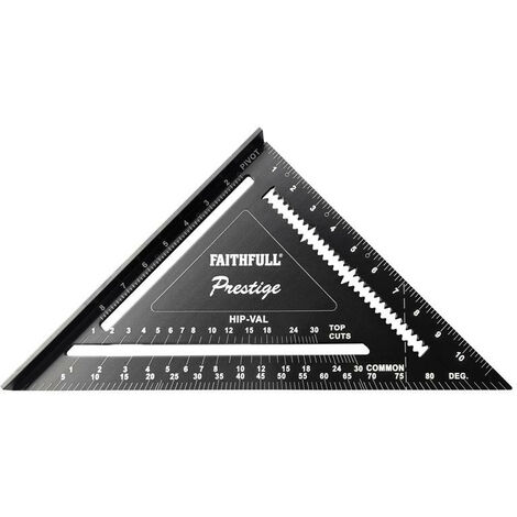 Faithfull FAICSQ12CNC Prestige Quick Square Black Aluminium 300mm (12in)