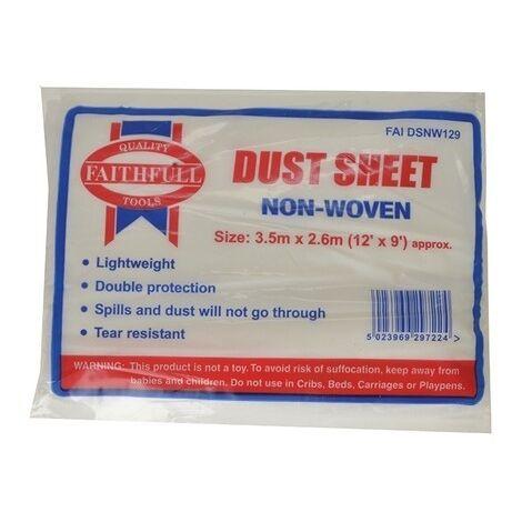 Faithfull FAIDSNW129 Non Woven Dust Sheet 12 x 9ft