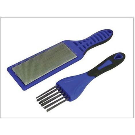 Faithfull FAIFCBKIT 2pc File Card Brush Kit