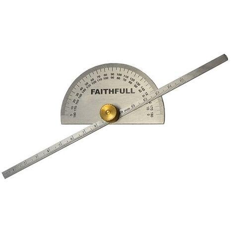 Faithfull FAIGAUGEDEPT Depth Gauge with Protractor 150mm (6in)