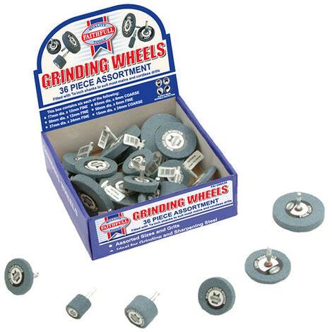 Faithfull FAIGWA36 Grinding Wheel Assortment 36 Piece