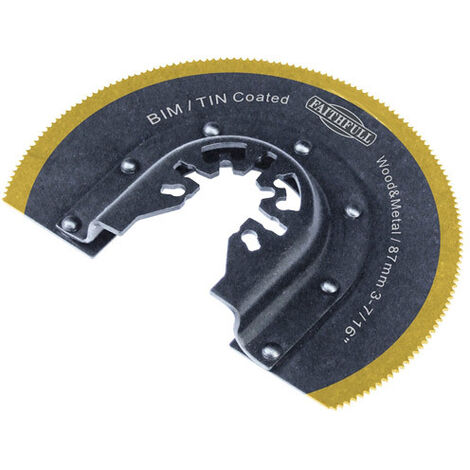 Faithfull FAIMFBM87 Multi-Functional Tool Bi-Metal Radial Saw TiN Coated Blade 87mm
