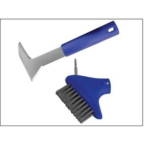 Faithfull FAIPATKIT Auto-Lock Patio Steel Brush & Weeder