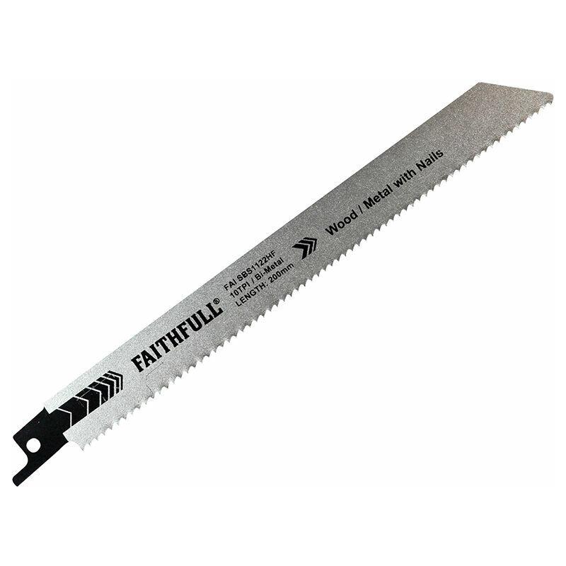 Image of 14020033 Bi-Metal Sabre Saw Blade Demolition 200mm 10 TPI (Pack 5) - Faithfull