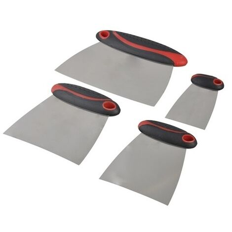 Faithfull FAISGFILLERS Filler & Spreader Set of 4 Stainless Steel
