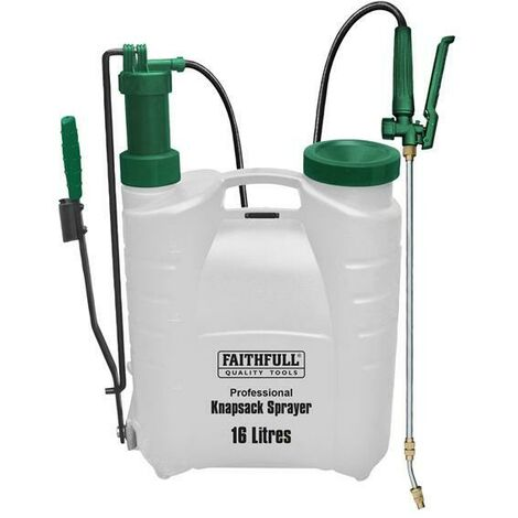 Faithfull FAISPRAY16HD Professional Knapsack Sprayer with Viton Seals 16L