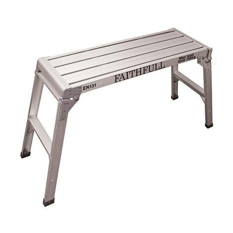 Faithfull FAISTEPUP3 Fold Away Step Up Aluminium L100 x H52 x W30cm