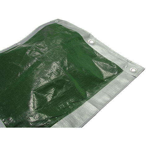 Faithfull FAITARP1818H Tarpaulin Green/ Silver Heavy-Duty 5.4 x 5.4m (18 x 18ft)